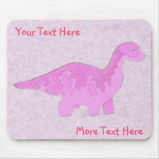 Pink Dino Mousepad