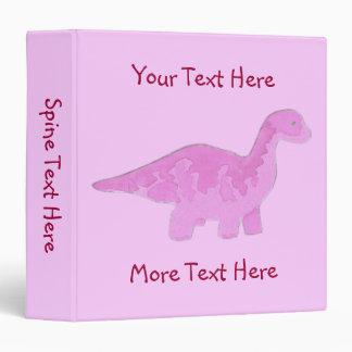 Pink Dinosaur Binder