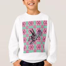 Pink Dinosaur Skull Geometric Pattern Sweatshirt
