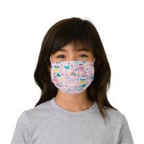 Pink Dinosaur Unicorn Rainbow Cloth Face Mask