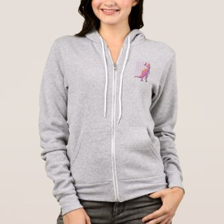 Pink Dinosaur With Hearts Hoodie