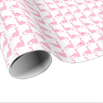 Pink Dinosaur Wrapping Paper