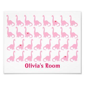 Pink Dinosaurs Photo Print