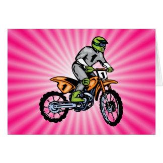 Pink Dirt Bike. Card