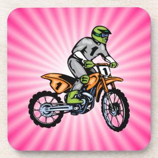 Pink Dirt Bike. Drink Coasters