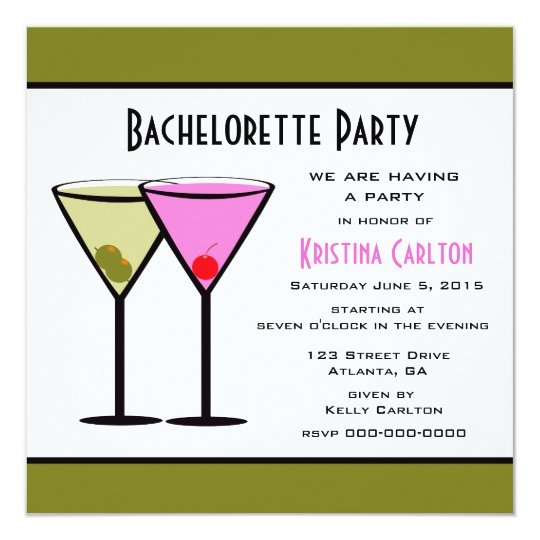 Pink & Dirty Martinis Card