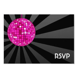 Pink Disco Ball RSVP Card