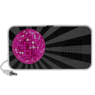 Pink Disco Mirror Ball Mp3 Speakers
