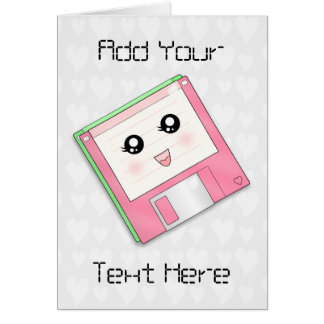 Pink Diskette* Card