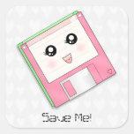 Pink Diskette Sticker
