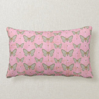 Pink Distressed Butterfly Pillow