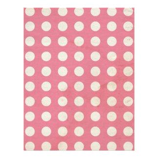 Pink Distressed Grunge Dot Scrapbooking Paper
