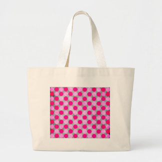 Pink Distressed Polka Dotted Bag