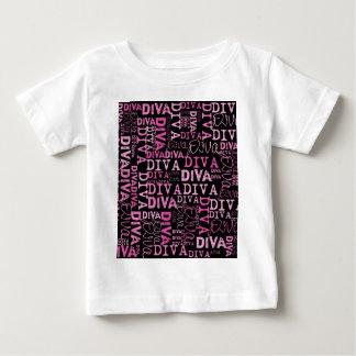 Pink, diva, black text baby T-Shirt
