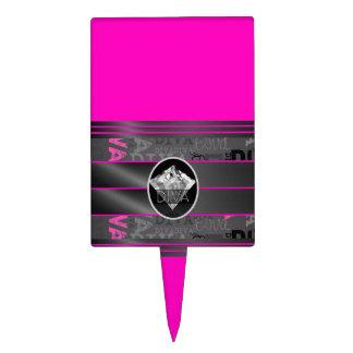 Pink Diva Diamond Bling Cake Topper