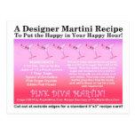 Pink Diva Martini Recipe Card Postcard