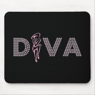Pink Diva Mouse Pad