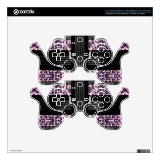 Pink Diva Pink Cheetah Skins For PS3 Controllers