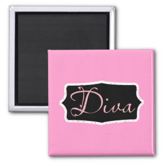 Pink Diva Word Art - Customized Magnet