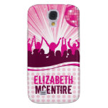 Pink DJ Spin Party Girl Personalized iPhone 3 Case