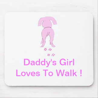 Pink Dog Ears Down Daddy's Girl Mouse Pad