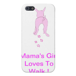 Pink Dog Ears Up iPhone Case Mama's Girl