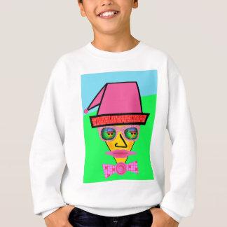Pink Dog Humanoid Face - Add Your Text Slogan Sweatshirt
