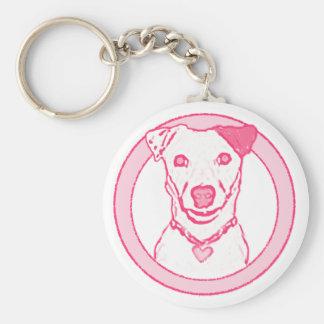 Pink Dog Keychain