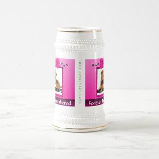 Pink Dog Memorial Keepsake Beer Stein