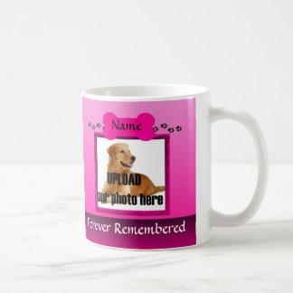 Pink Dog Memorial Keepsake Coffee Mug