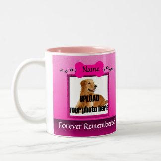 Pink Dog Memorial Keepsake Two-Tone Coffee Mug