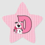 "Pink Dog Monogrammed ""D"" Stickers"