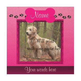 Pink Dog or Cat Custom Memorial Wood Print