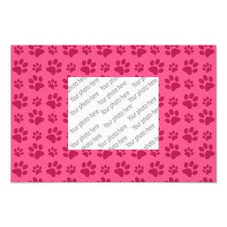 Pink dog paw print photo print