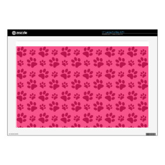 Pink dog paw print decal for laptop