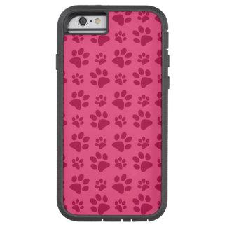 Pink dog paw print tough xtreme iPhone 6 case