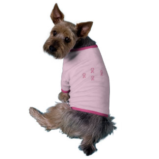 Pink Doggie Support Cancer t-shirt Dog Clothing