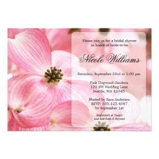 Pink Dogwood Blossoms Bridal Shower Invite