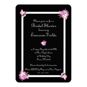 Molecular_Kittens Pink Dogwood Bridal Shower Invitation