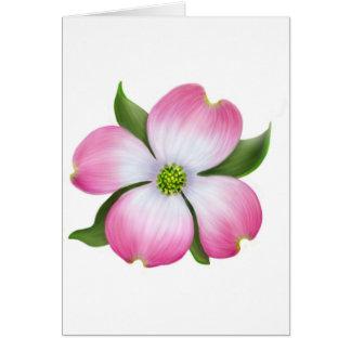 Pink Dogwood Flower Card