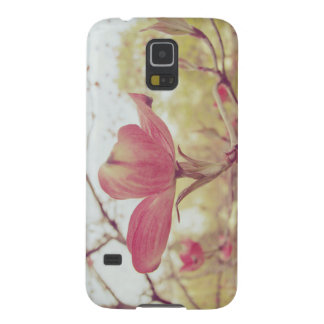 Pink Dogwood Flower Case For Galaxy S5