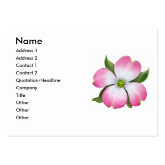 Pink Dogwood Flower Profile Card Large Business Cards (Pack Of 100)