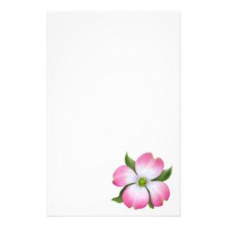 Pink Dogwood Flower Stationery