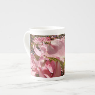 Pink Dogwood Flowers China Mugs Floral Spring Tea Cup