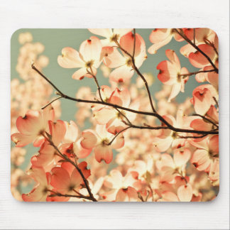 Pink Dogwood Flowers Mouse Pad