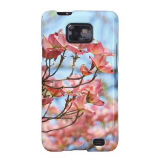 Pink Dogwood Flowers Samsung Galaxy cases Blue Sky Samsung Galaxy S2 Covers
