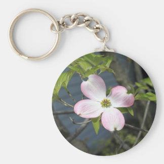 Pink Dogwood Keychain