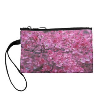 Pink Dogwood Personalized Key Coin Clutch