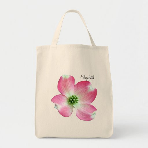 Pink Dogwood Personalized Tote Bag