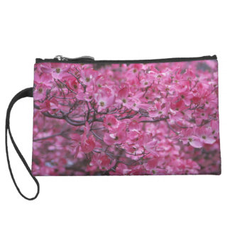 Pink Dogwood Personalized Wristlet Wallet